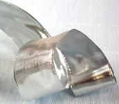 Stuha stříbrná nejširší - lesklá - 1 m