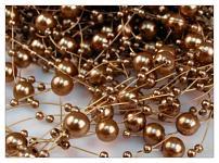 Perličky na silikonu - sv. hnědé malé