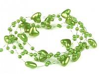 Perličky na silikonu - hráškově zelené malé