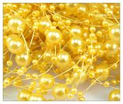 Perličky na silikonu - žluté malé