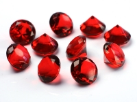 Akrylové diamanty velké - červené