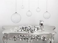 Baňka sklo - průhledná závěs - 6 cm