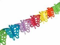 Girlanda papírová - motýlci - 3m