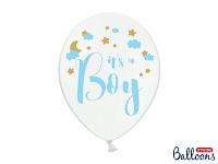 Modro-bílý balonek - je to kluk - 1ks