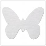 Vlizelínová přízdoba motýlek - bílá