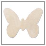 Vlizelínová přízdoba motýlek - krémová