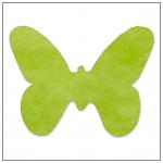 Vlizelínová přízdoba motýlek - světle zelená