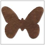 Vlizelínová přízdoba motýlek - čokoládově hnědá