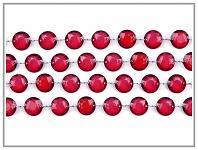 Girlanda diamanty - malinové