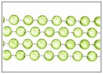 Girlanda diamanty - světle zelené