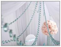 Girlanda diamanty - zelenomodré