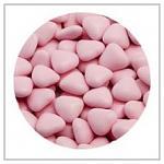 Čokoládová růžová srdíčka - 250g