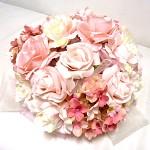 Koule z růží sv.růžová - dekorace na auto
