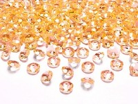 Akrylové diamanty malé - tm.žluté