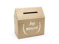 Krabička na peníze (přání) - kraftový domek
