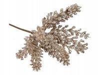 Vánoční větvička s bobulemi a květem poinsentie