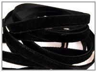 Sametová stuha - černá - 1m