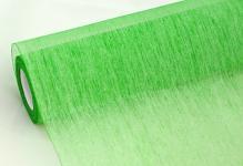 Vlizelín plissé - zelený