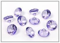 Akrylové diamanty velké - světle fialové - 100 ks