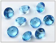 Akrylové diamanty velké - tyrkysové
