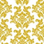 Ubrousky - bílo-zlatý ornament