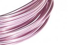 Hliníkový dekorační drátek 2mm/5m - sv.růžový