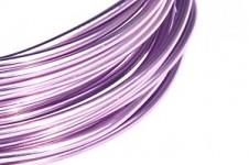 Hliníkový dekorační drátek 2mm/5m - sv.fialový