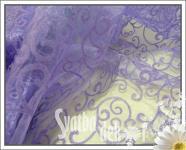 Organza sv.fialová - vzor š.150cm/300cm
