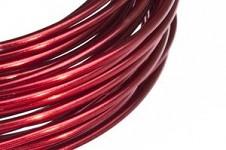 Hliníkový dekorační drátek 2mm - červený 5m