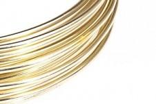 Hliníkový dekorační drátek 2mm/5m - krémový