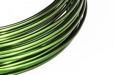 Hliníkový dekorační drátek 2mm/5m - jasně zelený