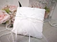 Polštářek pod prsteny - vintage bílý