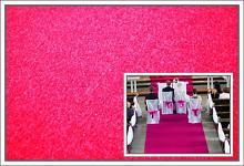 Svatební koberec - běhoun - růžový - 10m