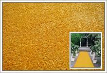 Svatební koberec - běhoun - žlutý - 10m