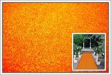Svatební koberec - běhoun - oranžový - 10m