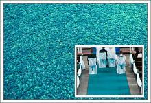 Svatební koberec - běhoun - tyrkysový - 10m