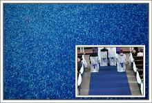 Svatební koberec - běhoun - tm.modrý - 10m