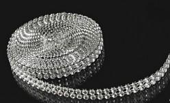 Diamantový pás - 1cm/1m - stříbrný