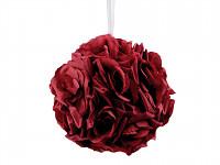 Koule z růží 17 cm - bordo