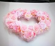 Srdce na auto velké sv.růžové duté