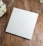Svatební kniha hostů - koženková bílá se dvěma srdíčky