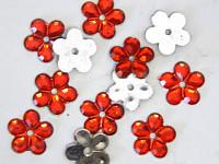 Kytičky drobné - tm.růžové - 100 ks