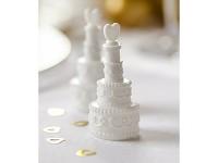 Svatební bublifuk - dort se srdíčkem - 1ks