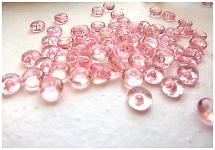Dekorační kapky rosy - sv. růžové