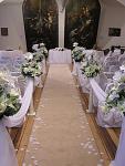 Svatební koberec - běhoun - krémový - 10m- půjčovna
