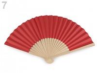 Vějíř papírový - červený
