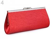 Společenská kabelka - červená třpytivá