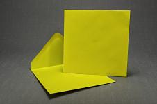 Obálka barevná čtverec - žlutá