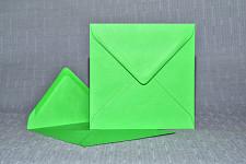 Obálka barevná čtverec - zelená jablko