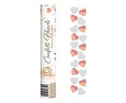Vystřelovací konfety 40 cm - červená srdíčka